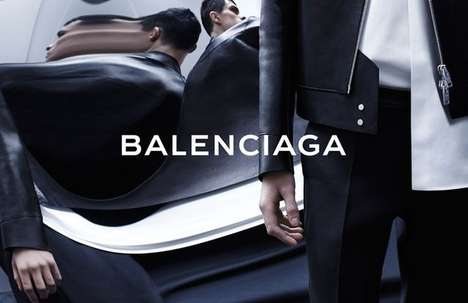 Wondrously Warped Fashion Campaigns - The Balenciaga Menswear Spring/Summer 2014 Ads Are Distorted