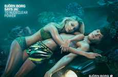 Romantic Automotive Fashion Campaigns - The Bjorn Borg Spring/Summer 2014 Ads Include Headlights