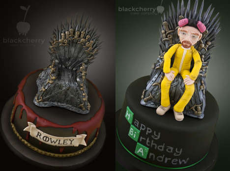 Cinematic Crossover Cakes - This Breaking Bad Game of Thrones Cake Design Merges Both Shows into One