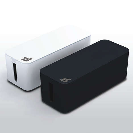 Sleek Cable Storage - The Cablebox by Bluelounge Keeps Loose Device Wires Tidy