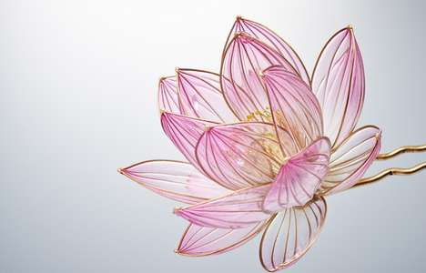 Floral Hair Ornaments - Japanese artist Sakae Creates Exquisitely Detailed and Delicate Accessories