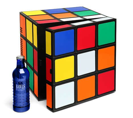 Playful Puzzle Fridges - The Rubik's Cube Fridge Keeps Drink Cool in a Playful and Colorful Way