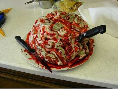 23 Gross Desserts - From Cerebral Cupcakes to Barftastic Candy