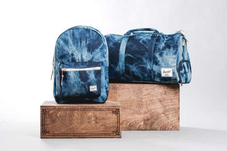 Bleached Denim Backpacks - These Hershey Supply Co. Jean Knapsacks are Super Retro