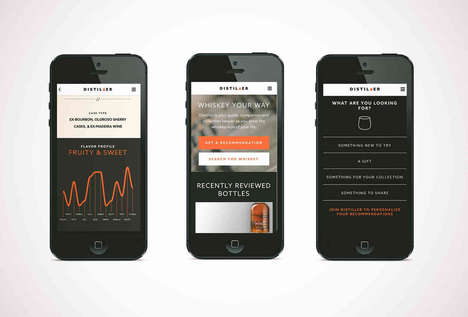 Whiskey-Recommending Apps - The Distiller App is a Social Media Platform for Whiskey Drinkers