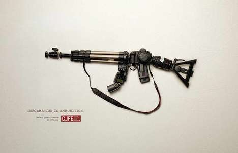 Weapon-Creating Campaigns - These Provacative CJFE Print Ads Promote Protecting Press Freedom