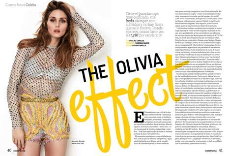 Casually Glam Editorials - Stylish Socialite Olivia Palermo Appears in Cosmopolitan Mexico