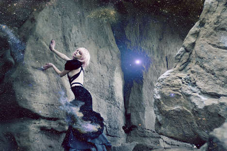 Galactic Glamour Editorials - Glassbook Magazine's Across The Universe Feature is Show-Stopping