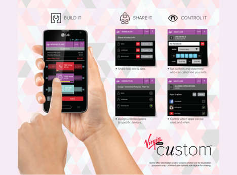 Customizable Phone Plans - Virgin Mobile Custom Lets Smartphone Users Handpick Their Plans