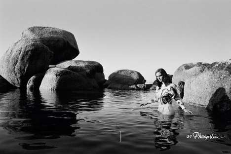Water Treading Fashion Campaigns - The Phillip Lim 3.1 Spring/Summer 2014 Ads Are Water-Bound