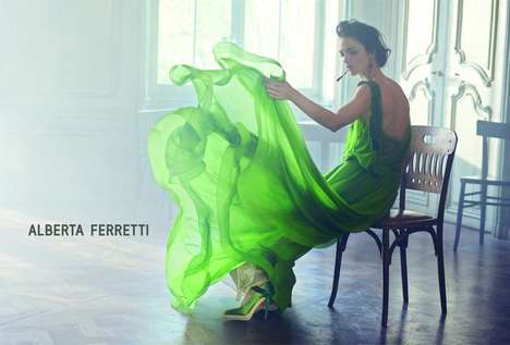 Free Flowing Fashion Campaigns - The Alberta Ferretti Spring/Summer 2014 Ads Showcase Loose Dresses
