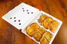 Aerated Sandwich Boxes - This Grilled Cheese Box by the Melt Ventilates to Keep Bread Toasty