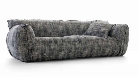 Distressed Plush Sofas - The Nuvola Collection by Gervasoni is Organic and Overstuffed