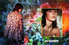 Superimposed 1970s Fashion Campaigns - The Jil Sander Spring/Summer 2014 Ads Cut Up Fashion Imagery