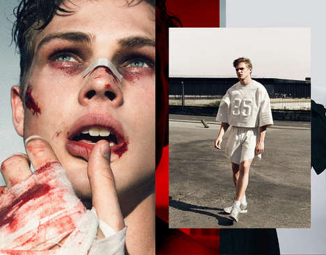 Bloodied Fighter Editorials - F****** Young Online's This is Warfare Story Boasts Violent Imagery
