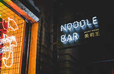 Neon Noodle Bars - Mary Wong Collaborates with Fork to Create an Illuminated Interior Design