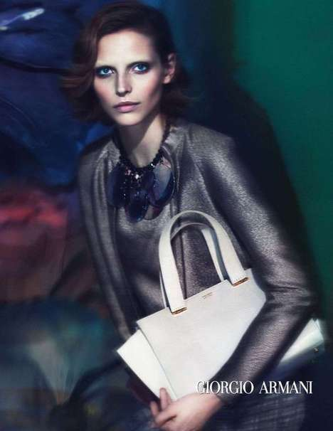 Expertly Blurred Fashion Campaigns - The Giorgio Armani Spring/Summer 2014 Ads Are Altogether Fuzzy