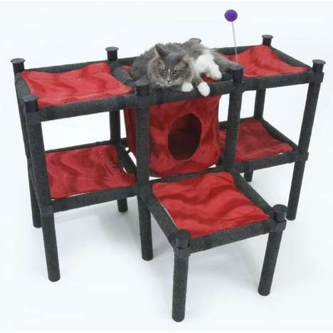 Modular Feline Playgrounds - The CatsPlay Modular Playground Can Expand to Accommodate Any Space