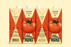Ridna Marka Juice Cartons Come Together to Form a Vivid Picture