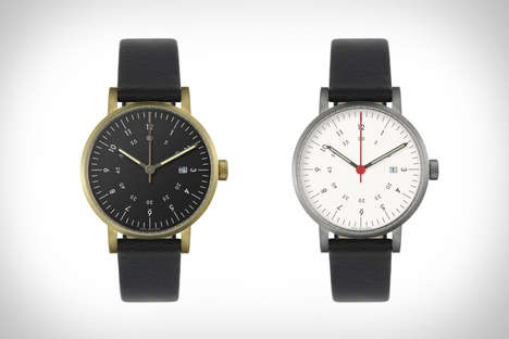 Sleek Masculine Watches - The Void V03D Watch is a Clean and Uncomplicated Timepiece