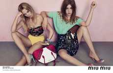 Patterned Pastel Fashion Campaigns
