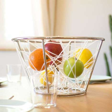 Elastic Fruit Baskets - This Unusual Kitchen Accessory Transforms an Everyday Item