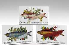 Artful Seafood Branding - Cicero Sardines' Packaging Features Underwater Life Illustrations