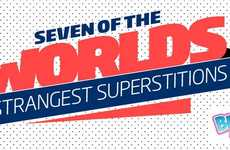 Strange Superstition Infographics - This Infographic Details the World's Most Bizarre Beliefs