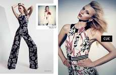 Patterned Jumpsuit Photoshoots - The Latest Cue Spring-Summer Campaign Stars Juliana Schurig