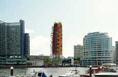 Continuously Curved Towers - All Design is Set to Build Heliport Heights in London