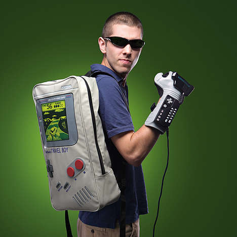 Retro Gamer Knapsacks - The TravelBoy Backpack is Shaped to Resemble the Classic Game Boy