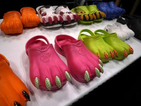 10 Eclectic Croc Designs - From Sci-Fi Kiddie Clogs to Animal Claw Kicks