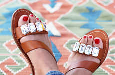 11 Crafty DIY Sandals - From Crystal Strap Sandals to DIY Stud-Adorned Shoes
