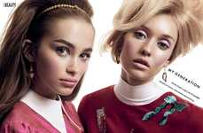 60s Beauty Editorials - The ELLE Canada 'My Generation' Photoshoot Channels Big-Eyed Looks