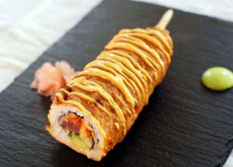 Sushi Corn Dogs - Culinary Bro Down Creates a Greasy Take on Spicy Tuna Rolls