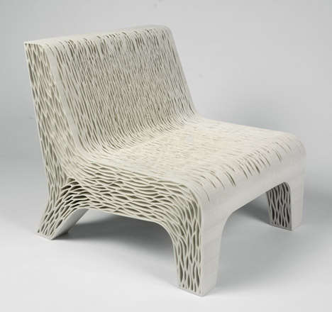 Flexible Cellular Seating - Lilian Van Daal's 3D-Printed Chair is Inspired by Plant Cells
