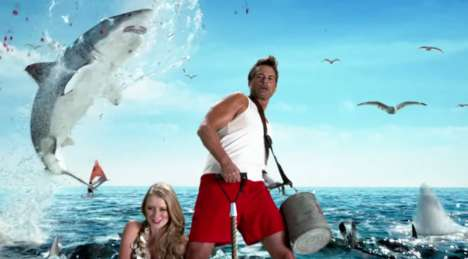 Epic Shark Commercials - Discovery Channel's Shark Week Promo Stars Rob Lowe Conquering Sharks