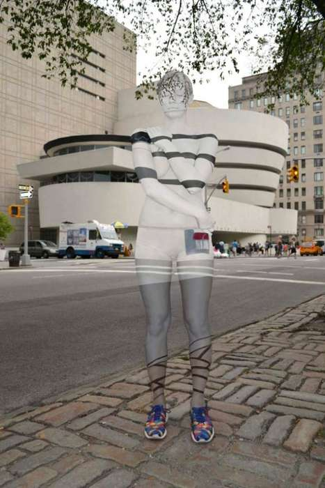 Personified Landmark Photography - Body Painted Models Blend into NYC's Urban Backdrop
