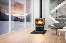 Sleek Iron Stoves - This Elegant Cast Iron Stove Was Designed by Anderssen & Voll