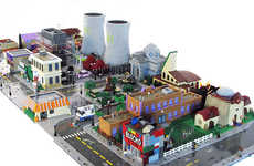 Cartoon Town LEGO Dioramas - Matt De Lanoy Creates an Impressively Detailed LEGO Springfield