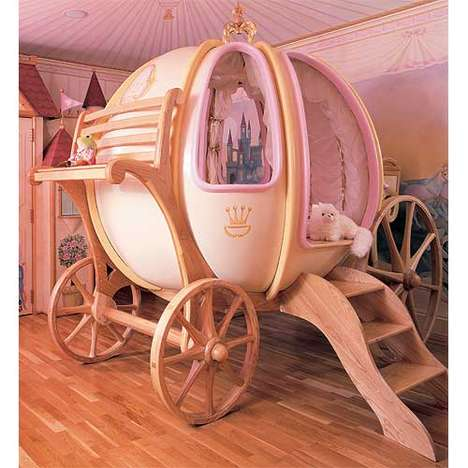 Fairytale Kids Room Decor - This Fantasy Coach from Posh Tots is Modeled After Cinderella's Carriage