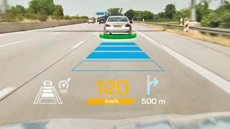 Futuristic Windshield Displays - The Continental AR-HUD System Displays Information on Windshields