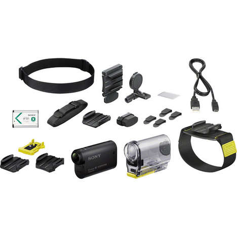 Wearable Camera Kits - The Sony HDR-AS30V Action Cam Comes with Wearable Accessories