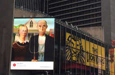 Artistically Repurposed Ads (UPDATE) - Art Everywhere US Takes Its Artful Billboards to Times Square