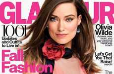 Breastfeeding Celeb Captures - The Olivia Wilde Glamour Issue Includes Shots With Her Son Otis