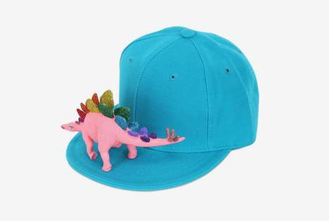 Sporty Prehistoric Accessories - This Dinosaur Cap by Piers Atkinson is Inspired by Childhood