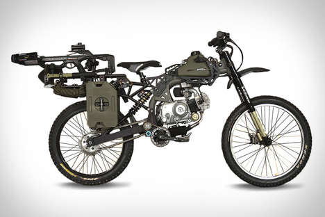Rugged Motorized Bicycles - The Motoped Survival Bike is Fit for a Savage Apocalypse