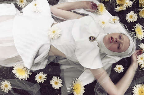 Fashion-Forward Nun Photography - Glassbook Magazine's Dolorosa Editorial is Religiously Daring