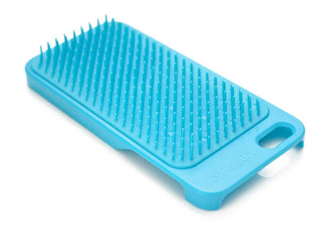 Hairbrush Phone Cases - Yobrush is a Phone Case Brush Protects Against Scratches and Bad Hair
