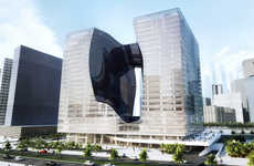Sculptural Luxury Hotels - Zaha Hadid Designed the ME Dubai Hotel in Her Signature Style